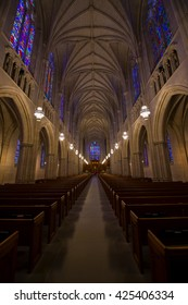 DURHAM - MAY 29: Intricate details of duke chapel in durham NC on May 29, 2016 in Durham, NC, USA