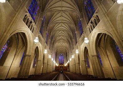 DURHAM, NC -2 DEC 2016- The Duke Chapel is located at the center of the Duke University campus, a private research university located in Durham, North Carolina.