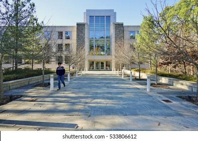 DURHAM, NC -2 DEC 2016- The Fuqua Business School, at Duke University campus in Durham, North Carolina, is ranked as one of the top business schools in the United States.