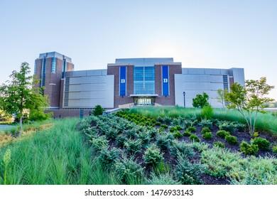 DURHAM, NC, USA - AUGUST 8: Brooks Field at Wallace Wade Stadium on August 8, 2019 at Duke University in Durham, North Carolina.
