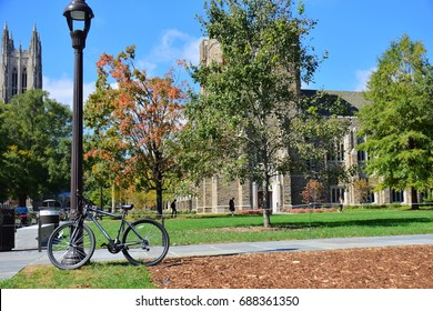 Durham, NC, USA - October 16th 2016: Duke university, one of the top universities in the USA.