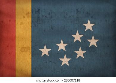 Durham ,North Carolina flag on fabric texture,retro vintage style