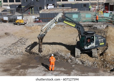 Durham U K - 21st March 2017  New Milburngate Construction  Development in Durham City UK near Durham Cathedral and Castle
