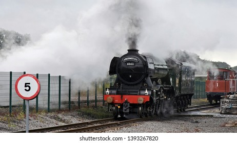 Durham UK July 29 2018 LNER A3 Class Steam Locomotive, Flying Scotsman at Locomotion Sheldon. The Engine was built at Doncaster in 1923 for the London & North Eastern Railway,