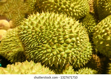 Durian accumulation in the supermarket