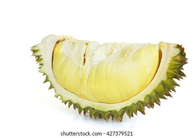 """A durian is a big fruit with a strong smell and a hard shell with sharp thorns. Its flavour is loved by some people, especially in Southeast Asia, where people name it """"King of Fruits"""""""