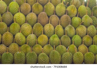 Durian at a Fruit Stall in Singapore