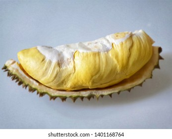 Durian King of fruits, Thai most famous fruit with delicious golden yellow soft flesh. Image of Monthong, one type of several kind of Durian. Concept of Summer fruits in tropical area.