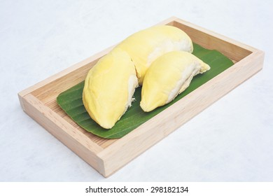 Durian on white Table Backgrounds Favorite Thai Fruit