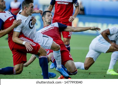 during a MLS match between Minnesota United FC and FC Dallas August 10, 2019, at Toyota Stadium, Frisco, Texas.