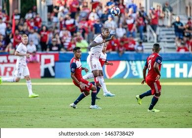 during a MLS match a between Real Salt Lake and FC Dallas July 27, 2019, at Toyota Stadium, Frisco, Texas. Score 0-0.