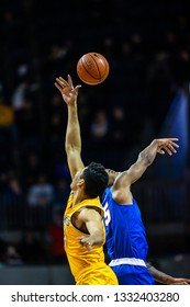 during a NCAA basketball game between the Wichita State Shockers and SMU Mustangs March 3, 2019, at Moody Coliseum, Dallas, Texas. Wichita State defeated SMU 67-55.