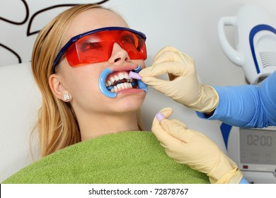 During the process of teeth whitening
