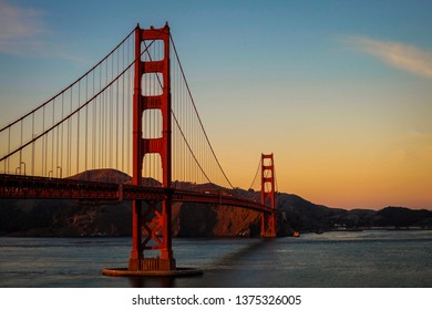 During the sunset at the Golden Gate bridge in San Francisco. Such a great view and feeling warm at the evening.