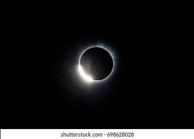 During a total solar eclipse the moon completely covers the sun allowing only the sun's corona to be seen by the naked eye. This is an incredible natural event that happens almost ever 18 months.