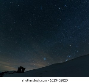 During the winter nights the night sky is more clearer than during the summer. That might be because the cold air is cleaner that the hot one. And in the mountains, the sky is a true wonder to watch.