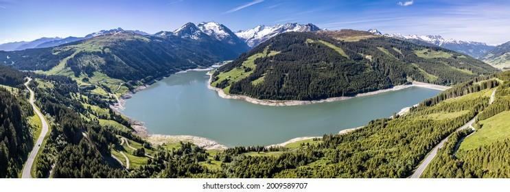 durlassboden lake in austria - areal