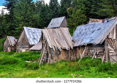 DURMITOR/ MONTENEGRO AUG 2016 - Lost and abandoned places and houses in Durmitor National Park, Montenegro