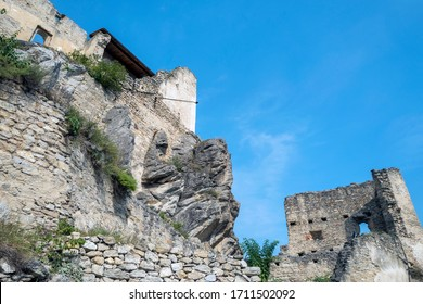 Durnstein Castle, along the Danube River in Austria.  King Richard the Lionheart was held captive there