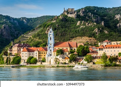 Durnstein on the Danube River in Wachau Valley. Austria.