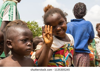 Durumi/Abuja/Nigeria/14.Apr.2018: Children living in the wooden makeshift place of Internally Displaced Persons in Abuja, the Federal Capital of Nigeria.