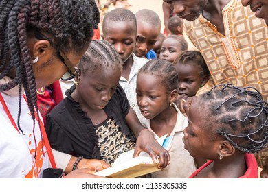 Durumi/Abuja/Nigeria/14.Apr.2018: Children studying and living in the wooden makeshift place of Internally Displaced Persons in Abuja, the Federal Capital of Nigeria.