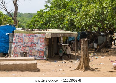 Durumi/Abuja/Nigeria/14.Apr.2018: Children of the wooden makeshift place of Internally Displaced Persons in Abuja, the Federal Capital of Nigeria.