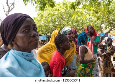 Durumi/Abuja/Nigeria/14.Apr.2018: Women of the wooden makeshift place of Internally Displaced Persons in Abuja, the Federal Capital of Nigeria.