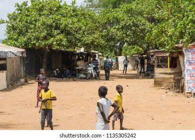 Durumi/Abuja/Nigeria/14.Apr.2018: Wooden makeshift place of Internally Displaced Persons in Abuja, the Federal Capital of Nigeria.