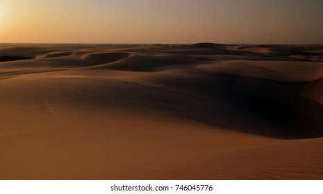 Dusk Arrives on the Sand Dunes of the Arabian Desert, Eastern Province, Saudi Arabia