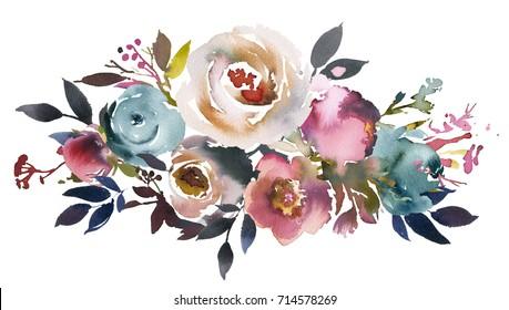 Fleur Aquarelle Images Stock Photos Vectors Shutterstock
