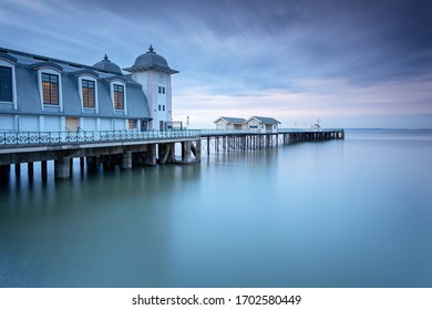 Dusk calm at Penarth Pier, Wales, UK