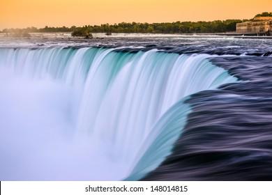 Dusk at Canadian Horseshoe Falls - Niagara Falls, Canada