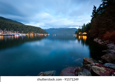 Dusk at Deep Cove, North Vancouver, Canada