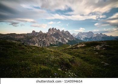 Dusk in Dolomites