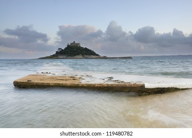 Dusk image of St Michael's Mount, Cornwall, UK.