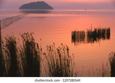 Dusk of Lake Biwa