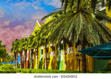 Dusk Light on Tropical Resort