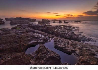 Dusk at Mengening Beach, Bali, Indonesia