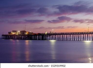 Dusk over Capitola Wharf. Capitola, Santa Cruz County, California, USA.