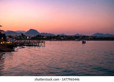 Dusk over Naama Bay, Sharm el Sheikh in Egypt