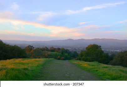 Dusk over Napa Valley