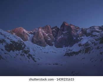 Dusk in the Pyrenees, France