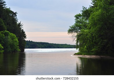 Dusk Sky Reflecting on Still Water