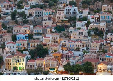 Dusk, Symi Island, Dodecanese Islands, Greece