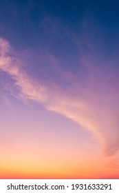 Dusk Vertical,Sunset Sky Twilight in the Evening with colorful Sunlight and Dark blue Sky, Majestic summer nice sky vertical. - Shutterstock ID 1931633291