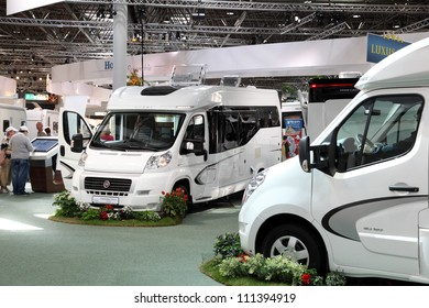 72e4c87247 DUSSELDORF - AUGUST 27  Modern camper vans at the Caravan Salon Exhibition  2012 on August