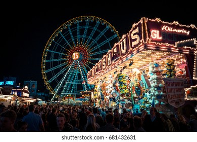 Dusseldorf Funfair 15.07.2016. Rheinkirmes is event that is organized every year in   July in Dusseldorf Germany. People from whole Nordrhein-Westfalen come here to have fun and enjoy beautiful Fair.
