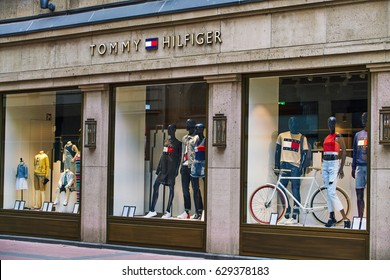 DUSSELDORF, GERMANY - April 04, 2017: Tommy Hilfiger store in Dusseldorf. Germany