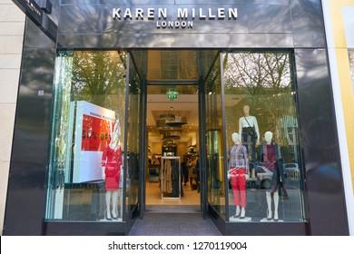 DUSSELDORF, GERMANY - CIRCA SEPTEMBER, 2018: entrance to Karen Millen shop in Dusseldorf.